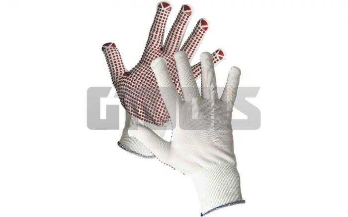 GANNET, manusi de protectie din Nylon cu picouri PVC 1