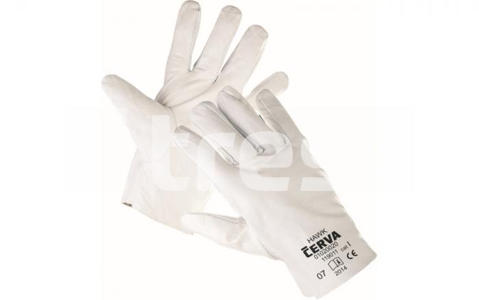 HAWK, manusi de protectie din piele de capra 0