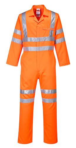 Hi-Vis Poly-cotton Coverall RIS 1