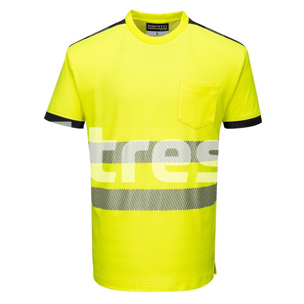 PW3 HIVIS S/S, Tricou din bumbac si poliester 0