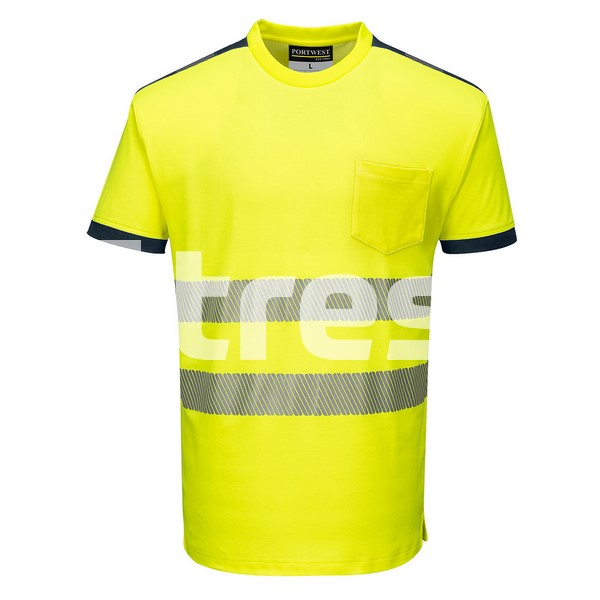 PW3 HIVIS S/S, Tricou din bumbac si poliester 2