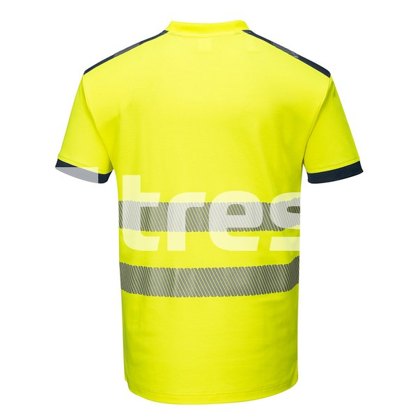 PW3 HIVIS S/S, Tricou din bumbac si poliester 3