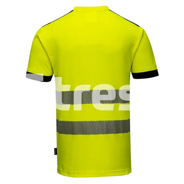 PW3 HIVIS S/S, Tricou din bumbac si poliester 1