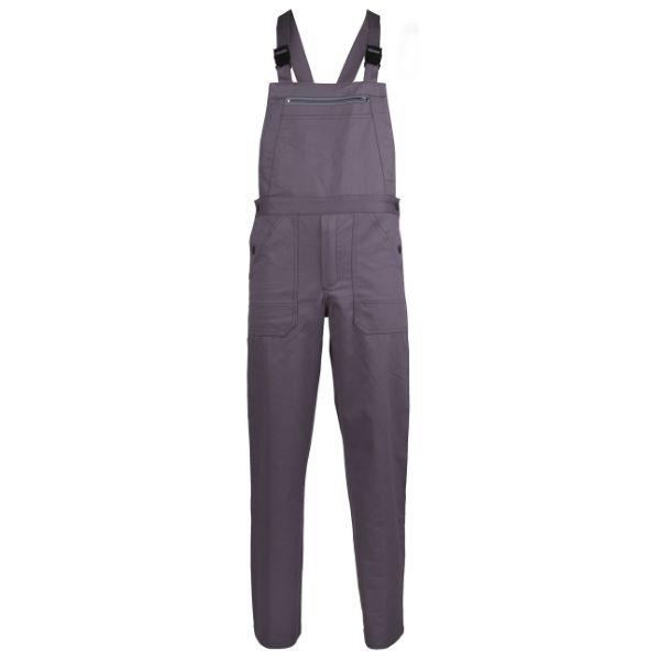 INDUSTRY, Pantalon de lucru cu pieptar din poliester si bumbac 1