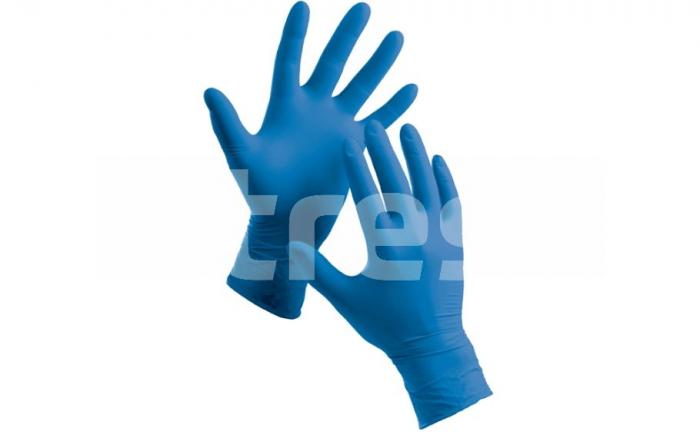Manusi de unica folosinta din nitril nepudrat, albastre, 3,5g, 200 buc 0
