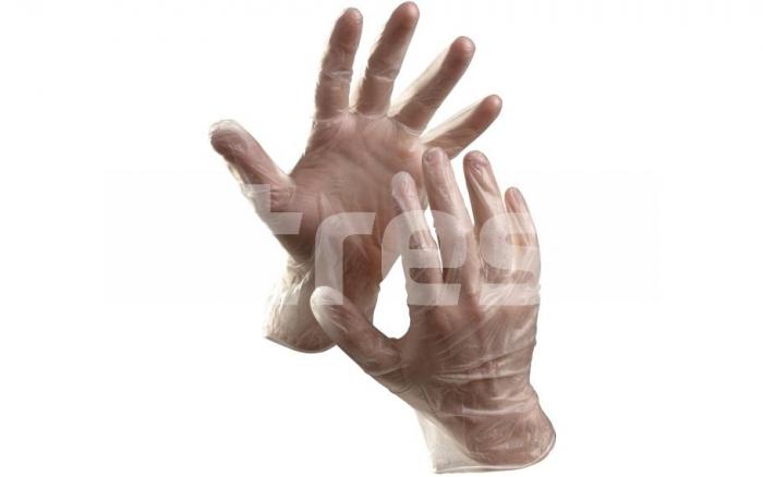 Manusi de unica folosinta din vinil nepudrat, transparente, 100 buc 0