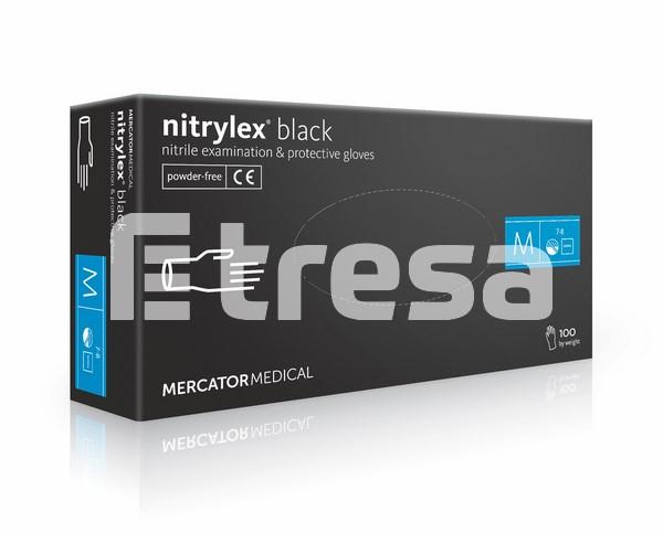 NITRYLEX BLACK, Manusi de unica folosinta din nitril, nepudrate (Cutie 100 bucati) 0