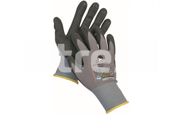 NYROCA MAXIM DOTS, manusi de protectie din Nylon, aplicatii nitril pe palma 0