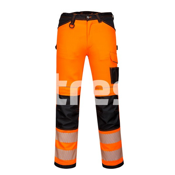 PW340 HI-VIS, Pantaloni de lucru din poliester si bumbac 0