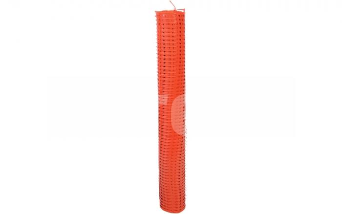 Plasa de avertizare perforata, portocalie 1x50m 1