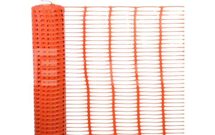 Plasa de avertizare perforata, portocalie 1x50m 0
