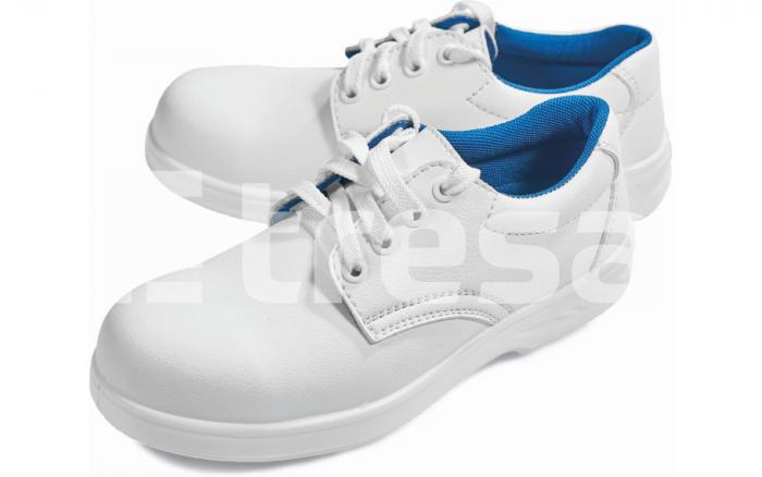 Raven White Low S2, pantofi de protectie cu bombeu metalic, talpa antistatica, absorbitor soc 0