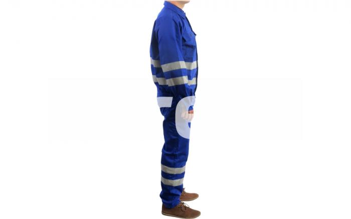 REFLEX, Costum salopeta cu benzi reflectorizante din bumbac si poliester 1