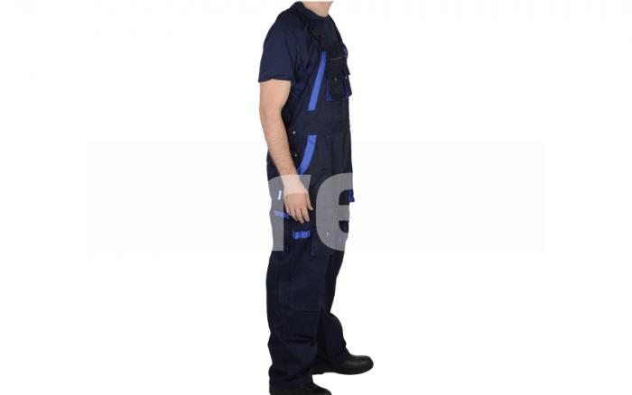 FIJI, Pantalon cu pieptar din poliester si bumbac 1