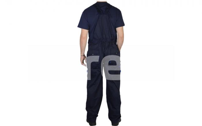 FIJI, Pantalon cu pieptar din poliester si bumbac 2