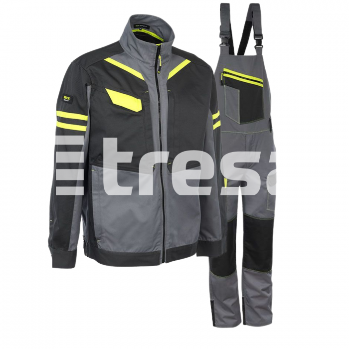 SHELTER PP, Costum cu jacheta + pantaloni pieptar din poliester si bumbac 0