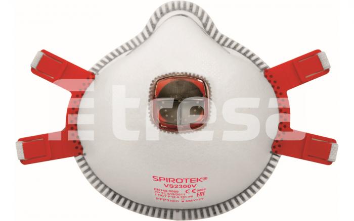SPIROTEK VS2300V, semimasca de protectie cu supapa 0