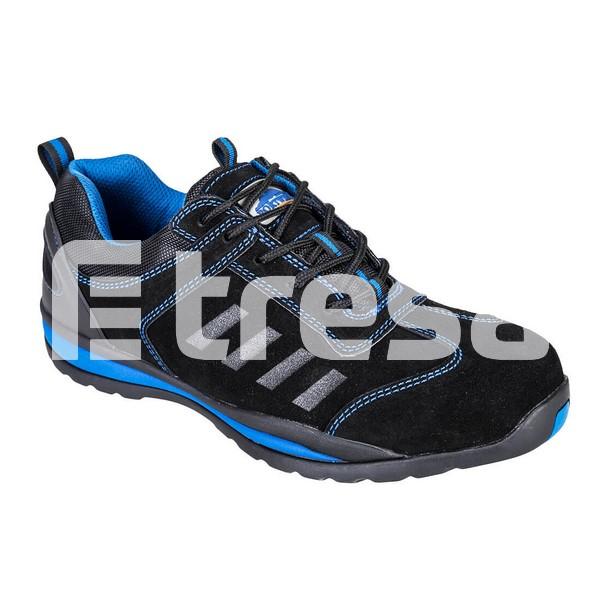 STEELITE LUSUM S1P, Pantof de protectie cu bombeu, lamela antiperforatie, talpa HRO 1