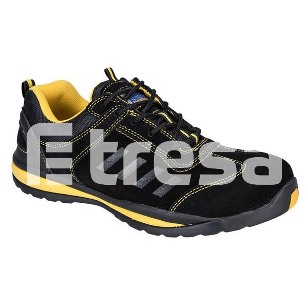 STEELITE LUSUM S1P, Pantof de protectie cu bombeu, lamela antiperforatie, talpa HRO 0