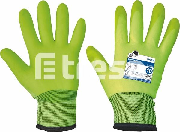 TURTUR, Manusi de protectie termoizolate din nylon, imersate in PVC 3