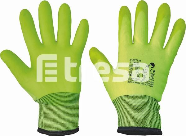 TURTUR, Manusi de protectie termoizolate din nylon, imersate in PVC 0