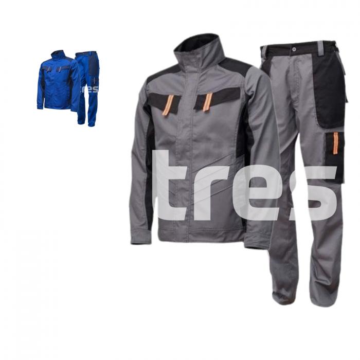 VULCANO PS, Costum barbati cu jacheta + pantaloni standard din poliester si bumbac 0