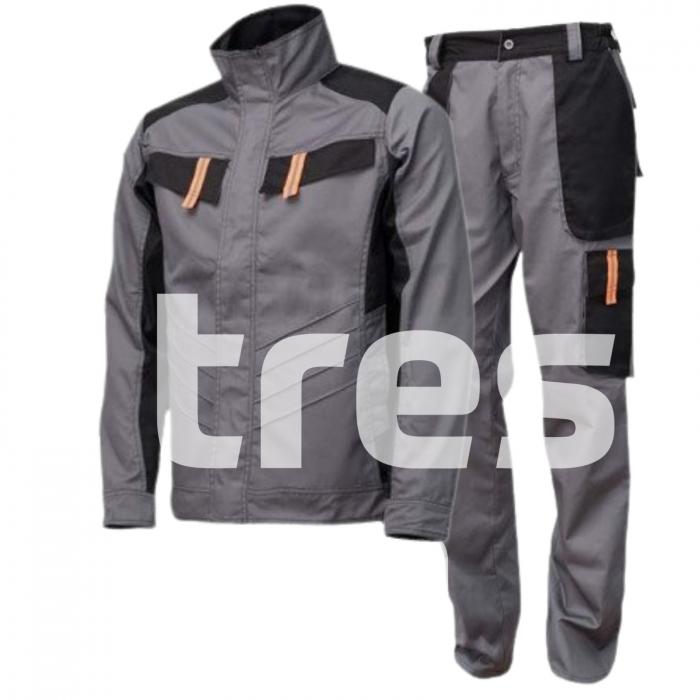 VULCANO PS, Costum barbati cu jacheta + pantaloni standard din poliester si bumbac 1