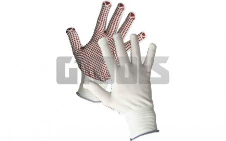 GANNET, manusi de protectie din Nylon cu picouri PVC1