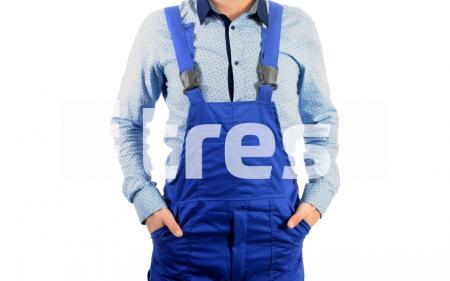 REFLEX, Costum salopeta cu benzi reflectorizante din bumbac si poliester2