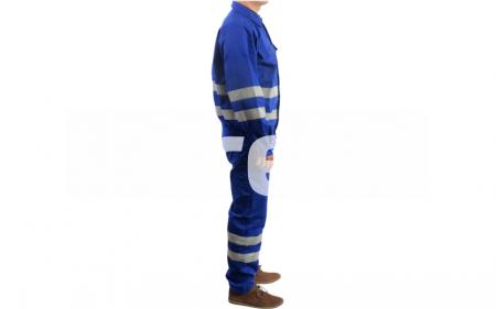 REFLEX, Costum salopeta cu benzi reflectorizante din bumbac si poliester1