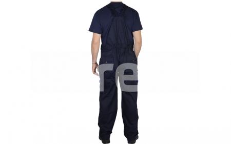 FIJI, Pantalon cu pieptar din poliester si bumbac2