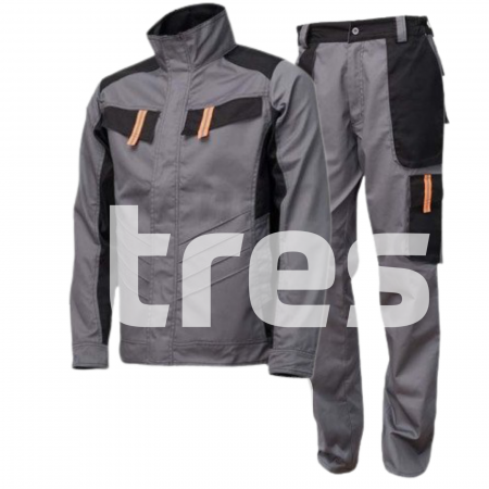 VULCANO PS, Costum barbati cu jacheta + pantaloni standard din poliester si bumbac1