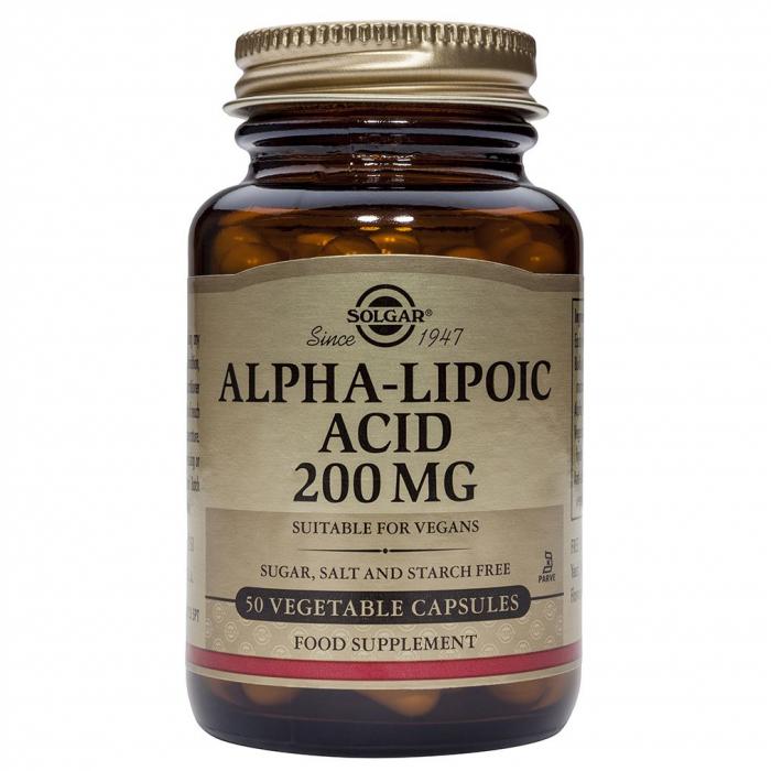 ALPHA LIPOIC ACID 200 MG 50 CPS SOLGAR [0]