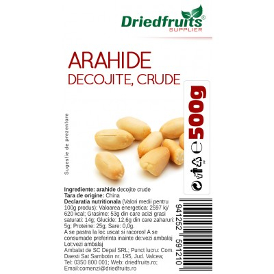 ARAHIDE DECOJITE CRUDE 500 G [0]