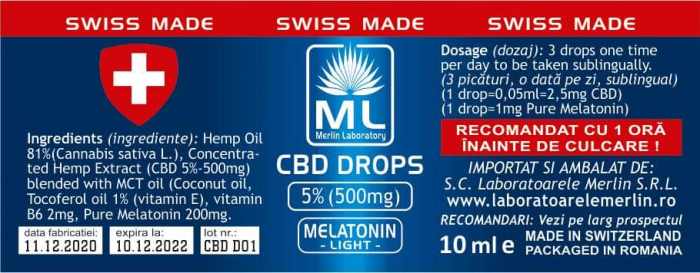 CBD MELATONNIM 5%  10 ML [0]
