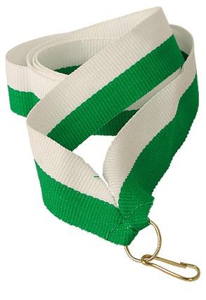 Snur Medalie Alb/Verde