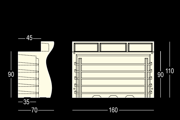 BARTOLOMEO bar modular luminos pentru interior exterior 2