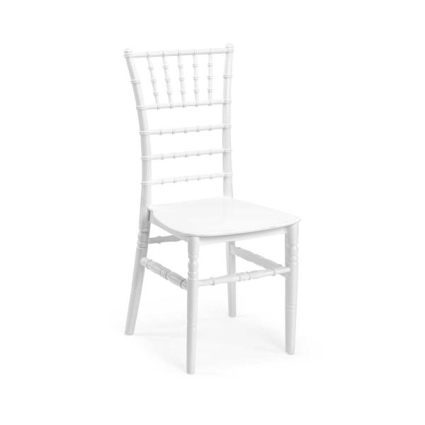 CHIAVARI alb scaun plastic evenimente 0