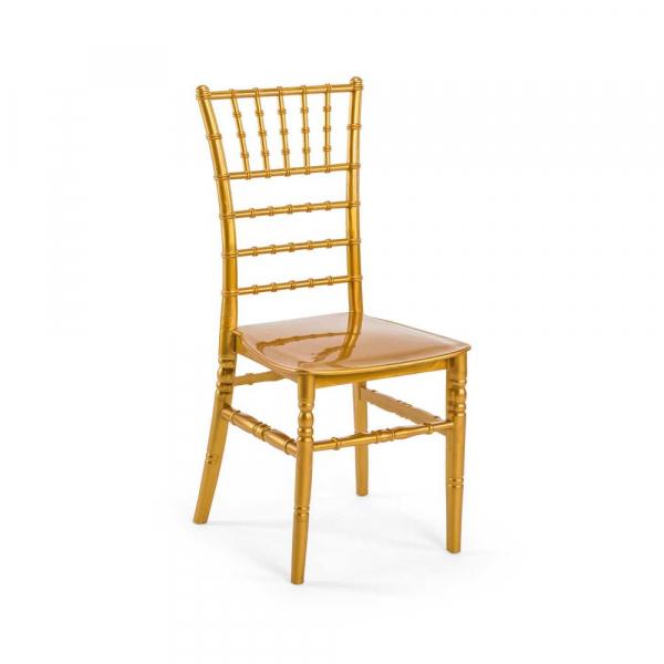 CHIAVARI auriu scaun plastic evenimente 0