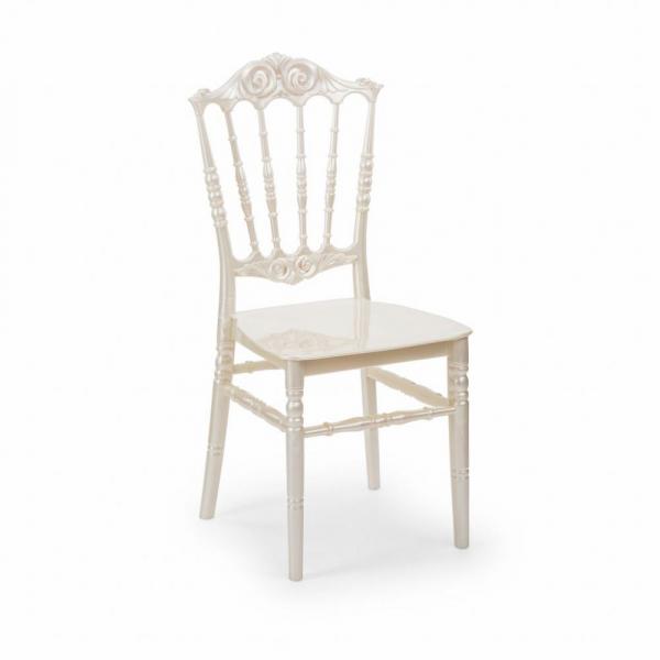 ELITE alb perlat scaune plastic evenimente 0