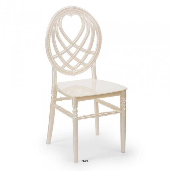 OXO alb perlat scaun plastic evenimente 0