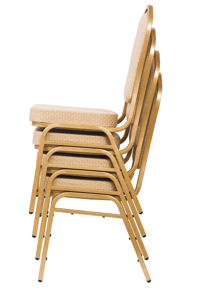 MXT ST314 scaune pentru conferinta si training  suprapozabile cadru auriu [6]