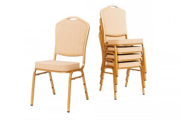 MXT ST314 scaune pentru conferinta si training  suprapozabile cadru auriu [4]