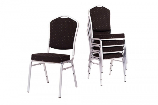 MXT ST390 scaune pentru evenimente si conferinta suprapozabile cadru argintiu [4]