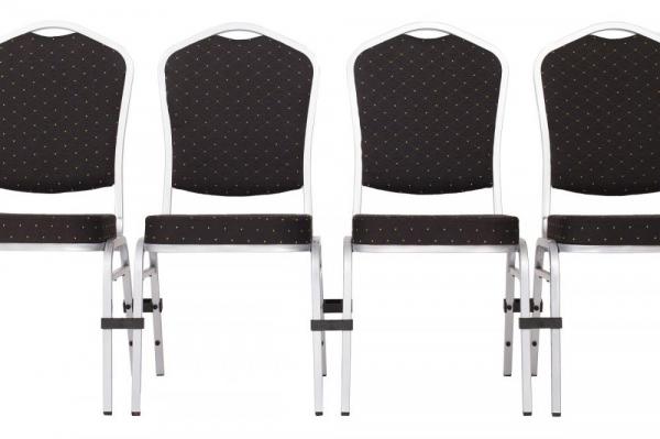 MXT ST390 scaune pentru evenimente si conferinta suprapozabile cadru argintiu 5
