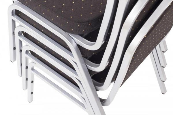 MXT ST390 scaune pentru evenimente si conferinta suprapozabile cadru argintiu [6]