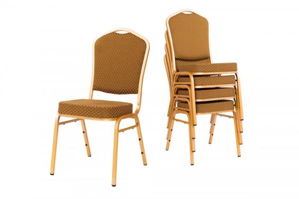 MXT ST633 scaune pentru evenimente si conferinta suprapozabile cadru auriu 3