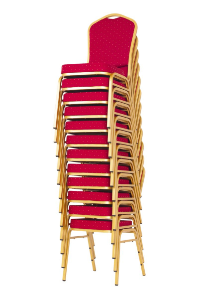 MXT ST220 scaune pentru evenimente conferinta si training  suprapozabile cadru auriu 7