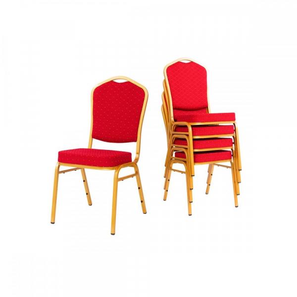 MXT ST220 scaune pentru evenimente conferinta si training  suprapozabile cadru auriu 4