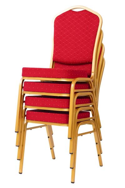 MXT ST220 scaune pentru evenimente conferinta si training  suprapozabile cadru auriu 6